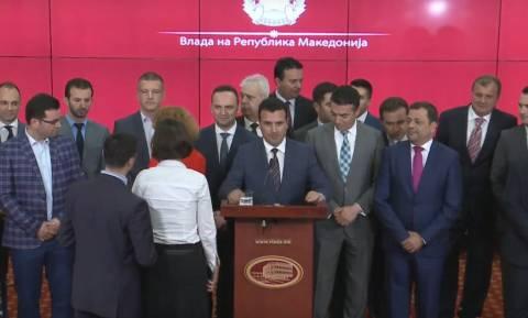 Ζάεφ: Δημοψήφισμα και έκκληση για στήριξη του «Βόρεια Μακεδονία» (video)