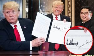 Τραμπ – Κιμ Γιογκ Ουν: Γραφολόγος αποκαλύπτει τα «μυστικά» των δύο ηγετών (Vid)
