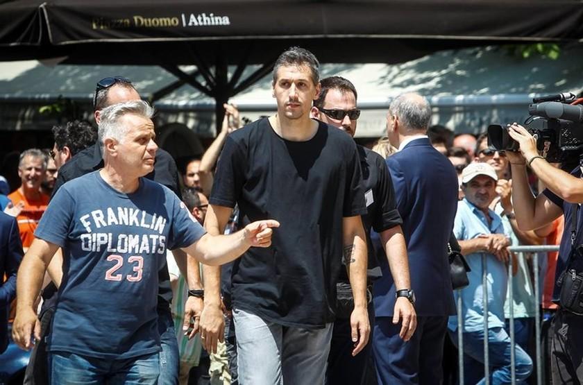 Ο μεγάλος αστέρας της ομάδας μπάσκετ του Παναθηναϊκού, Δημήτρης Διαμαντίδης
