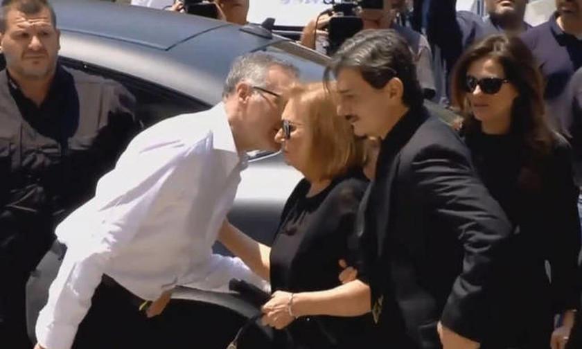 Ο Δημήτρης Γιαννακόπουλος κατά την άφιξή του στον Ιερό Μητροπολιτικό Ναό Αθηνών