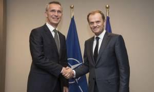 Βόρεια Μακεδονία: Κοινό ανακοινωθέν Στόλτενμπεργκ - Τουσκ για τη συμφωνία Ελλάδας - Σκοπίων