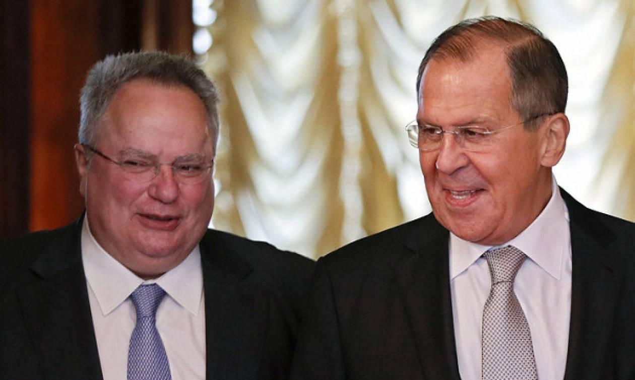 Никос Котзиас провел встречу с Сергеем Лавровым