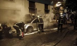 Φωτιές σε οχήματα ιδιωτικής εταιρίας σε τέσσερα σημεία της Αττικής