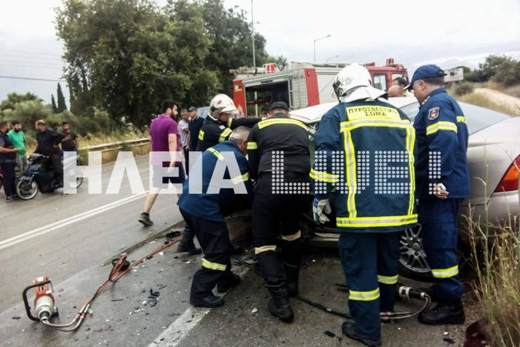 Καραμπόλα με τρεις τραυματίες στην Εθνική Οδό Πατρών – Πύργου: Εικόνες σοκ