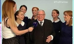 Απίστευτο τηλεοπτικό στιγμιότυπο: Ο Βουτσάς μαθαίνει on camera ότι θα παίξει με τη Ζένια Μπονάτσου