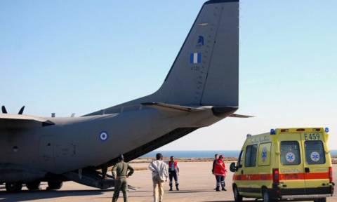 Νέα αεροδιακομιδή από τη Ρόδο: Σε καταστολή μεταφέρθηκε γυναίκα στο ΠΑΓΝΗ