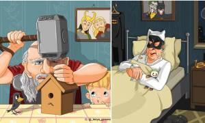Τρελό γέλιο: Έτσι θα είναι οι Σούπερ Ήρωες όταν βγουν στη ΣΥΝΤΑΞΗ!