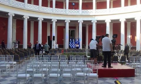 Ζάππειο: Οι πρώτες φωτογραφίες από τις προετοιμασίες για την ομιλία του Αλέξη Τσίπρα