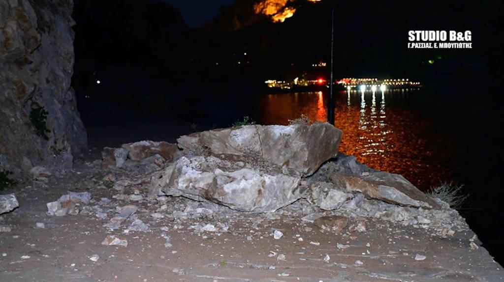 Μεγάλη κατολίσθηση στο Ναύπλιο: Από θαύμα δεν υπήρξαν θύματα (pics+vid)