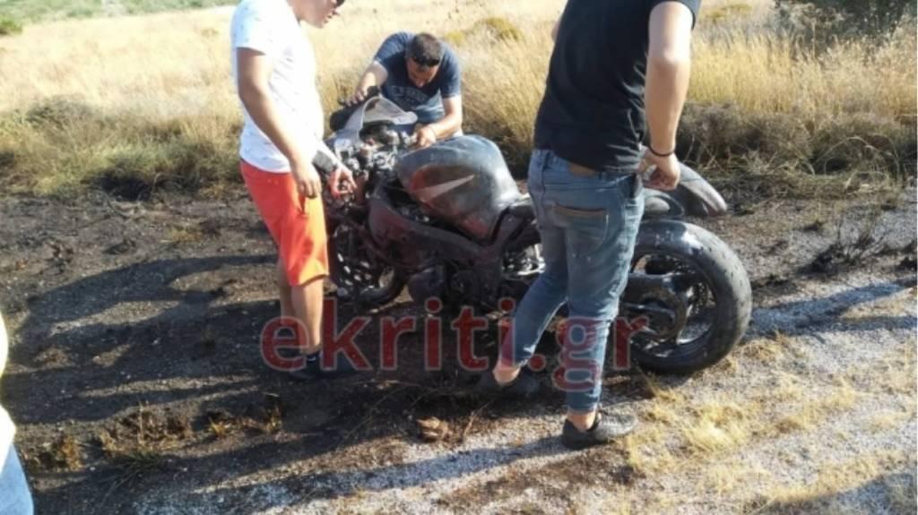 Κρητη: Σοβαρό τροχαίο σε αγώνες επιτάχυνσης - Τραυματίστηκε μοτοσικλετιστής (pics)