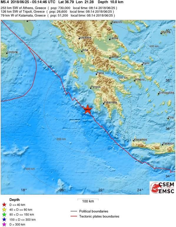 Σεισμός ΤΩΡΑ: Ισχυρή σεισμική δόνηση στην Πύλο
