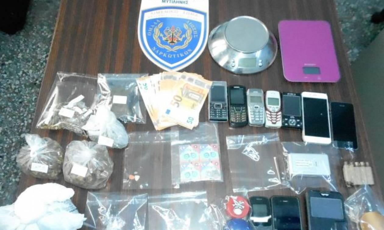 Τέσσερις συλλήψεις για ναρκωτικά στη Μυτιλήνη (pics)