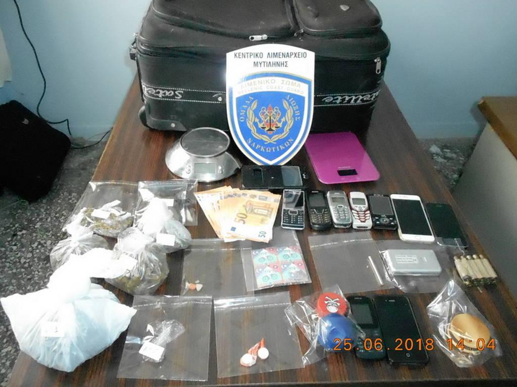 Τέσσερις συλλήψεις για ναρκωτικά στη Μυτιλήνη