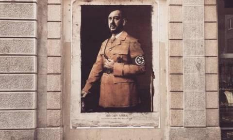 Ιταλία: Street artist παρουσιάζει τον Ματτέο Σαλβίνι ως νέο Χίτλερ