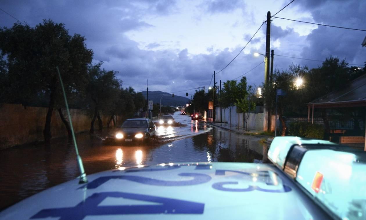 Κακοκαιρία: Αποκαταστάθηκε η κυκλοφορία των οχημάτων στην περιοχή της Μάνδρας