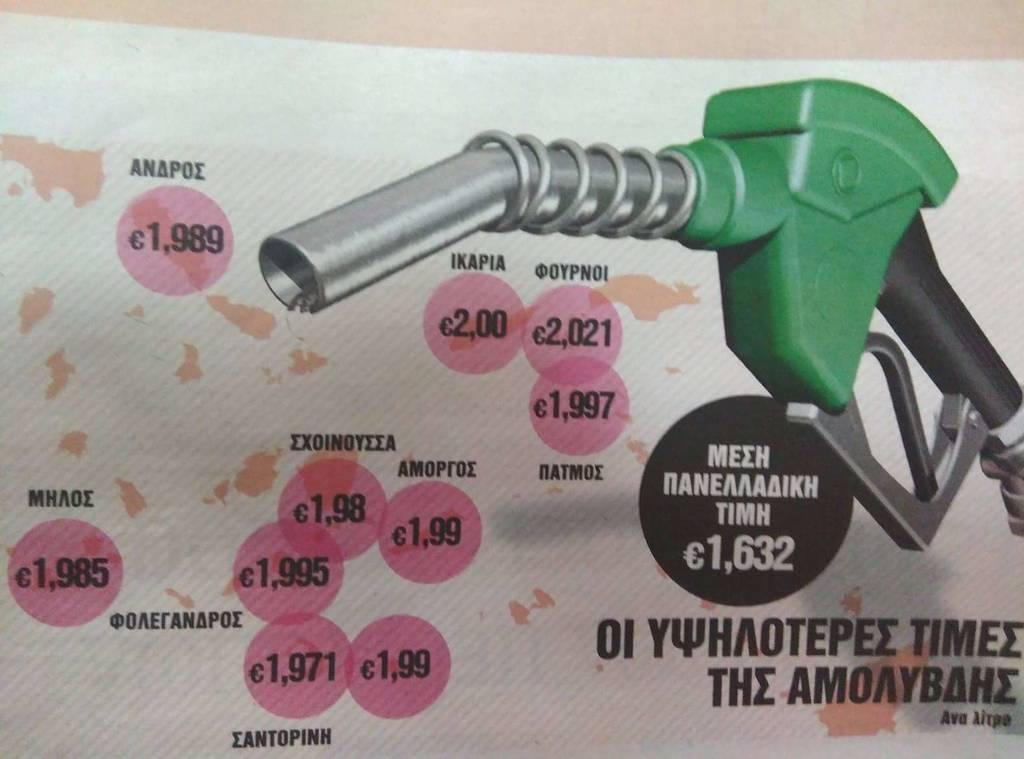 «Φωτιά» τα καύσιμα: Σε αυτές τις περιοχές ξεπέρασε τα 2 ευρώ η τιμή της αμόλυβδης (ΠΙΝΑΚΕΣ)