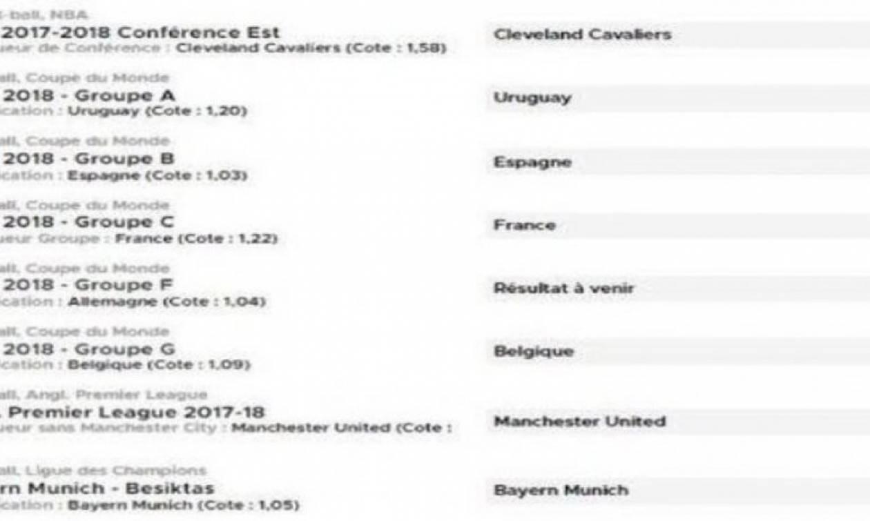 Μουντιάλ: Απίστευτο! Επιασε τα... πάντα, αλλά έχασε 55.000 ευρώ για το... 1.04 της Γερμανίας! (pic)