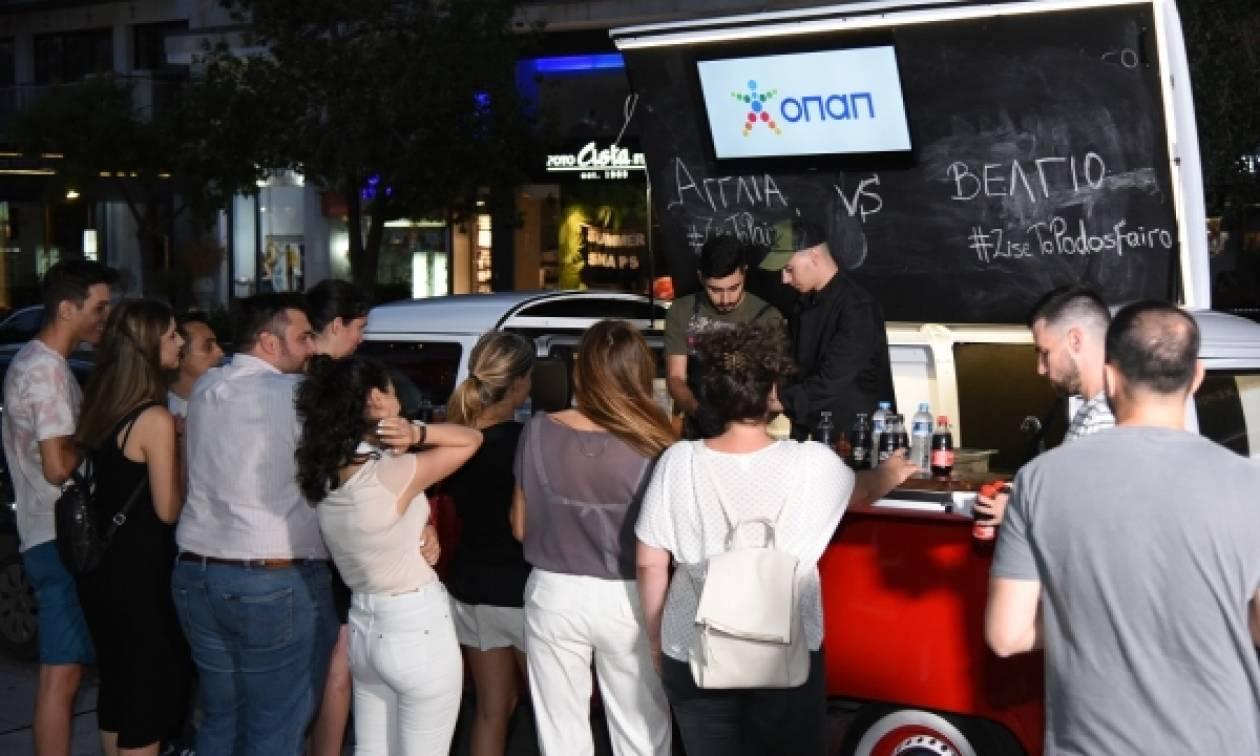 Τα πρακτορεία ΟΠΑΠ σε όλη την Ελλάδα σε ρυθμούς Παγκοσμίου Κυπέλλου