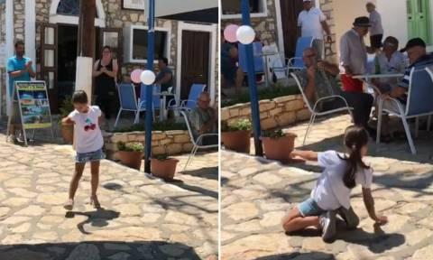Καστελόριζο: Κοριτσάκι χορεύει το ζεϊμπέκικο της Ευδοκίας και προκαλεί πανικό! (video)
