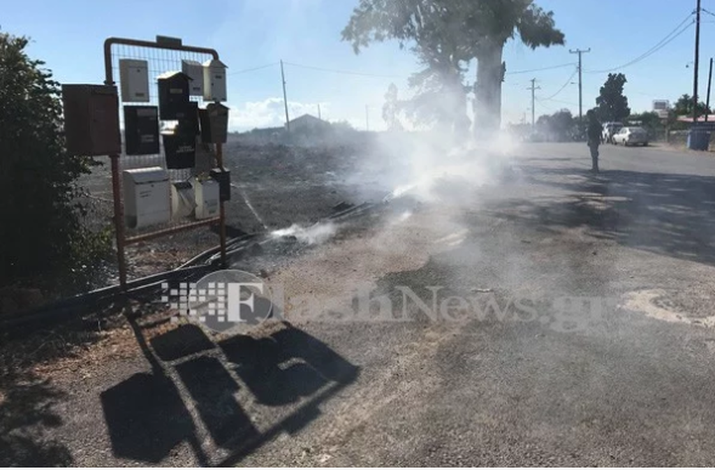 Πυρκαγιά στο Ακρωτήρι Χανίων - Κίνδυνος για κατοικημένη περιοχή