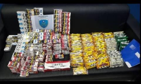 Εξάρθρωση κυκλώματος λαθραίων καπνικών προϊόντων στη Σαλαμίνα