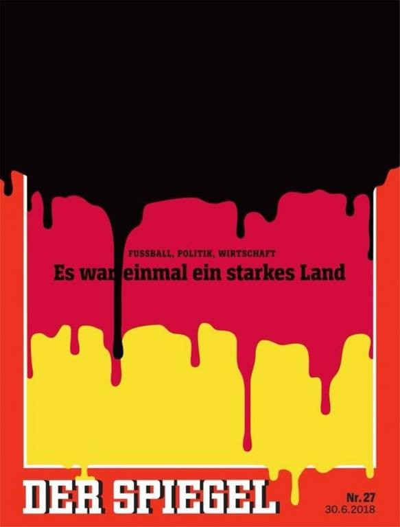 Το εξώφυλλο του Spiegel για την πολιτική κρίση στη Γερμανία: «Ήταν κάποτε μια ισχυρή χώρα»