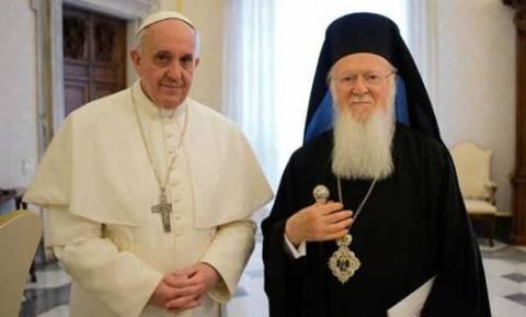 Πατριάρχης Βαρθολομαίος και Πάπας Φραγκίσκος προσεύχονται για τη Μέση Ανατολή