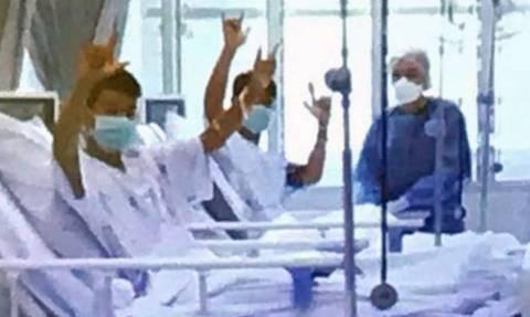 Ταϊλάνδη σπήλαιο: Οι πρώτες εικόνες των 12 παιδιών στο νοσοκομείο