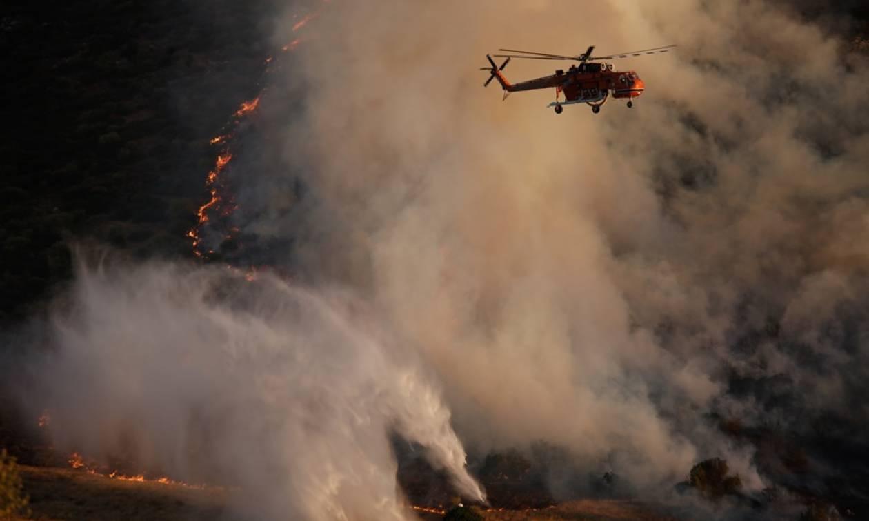 Διπλό πύρινο μέτωπο στο Λασίθι - «Μάχη» με τις φλόγες σε Σητεία και Ιεράπετρα