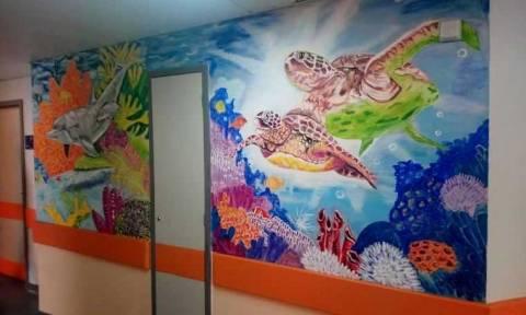 Οι εργαζόμενοι του νοσοκομείου Χανίων «μεταμόρφωσαν» την Παιδιατρική Κλινική (pics)