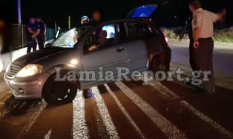 Λαμία: Μεθυσμένος οδηγός «καρφώθηκε» σε μαντρότοιχο επιχείρησης