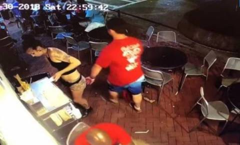 «Άντρακλας» χούφτωσε σερβιτόρα και η συνέχεια ήταν αυτή που του άξιζε! (video)