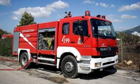 Θεσσαλονίκη: Φωτιά σε εργοστάσιο παραγωγής πέλετ
