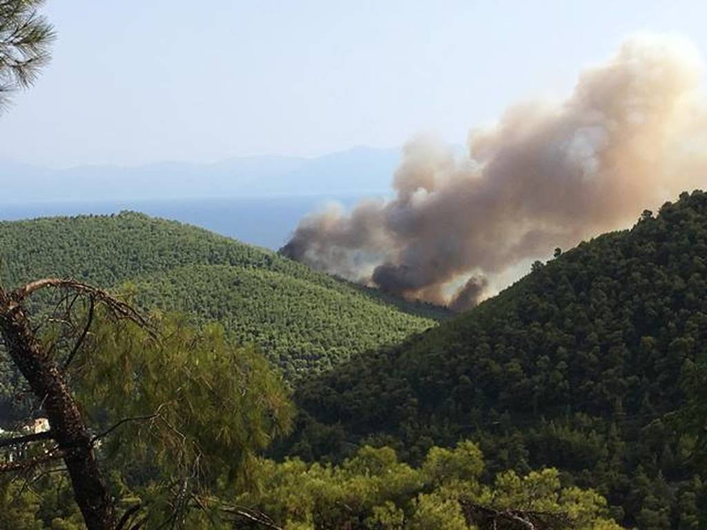 Φωτιά στη Σκοπελο: Δύσκολη νύχτα στο νησί - Ενισχύθηκαν οι Πυροσβεστικές δυνάμεις (χάρτες)