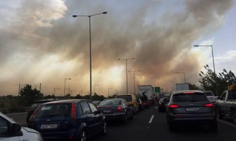 Φωτιά ΤΩΡΑ: Ανοιχτή η Εθνική Οδός Αθηνών - Κορίνθου και στα δύο ρεύματα κυκλοφορίας