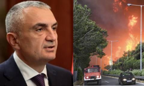 Φωτιά Αττική - Αλβανός πρόεδρος: Είμαι συγκλονισμένος - Προσεύχομαι να μην υπάρχουν άλλα θύματα