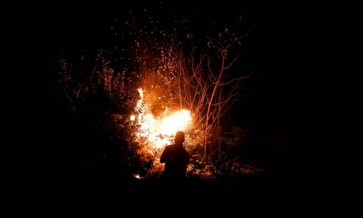 Φωτιά ΤΩΡΑ στη Νέα Μάκρη (χάρτης)