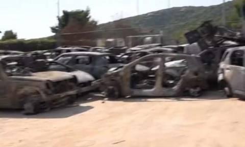 Νεκροταφείο αυτοκίνητων το παλιό γήπεδο της Θύελλας στη Ραφήνα (Pics)