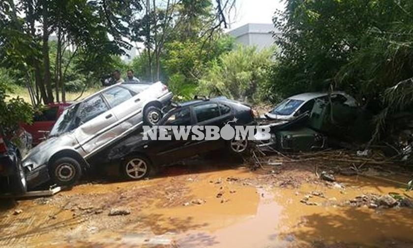 Συναγερμός: Πλημμύρισαν Μαρούσι, Βριλήσσια, Μελίσσια, Κηφισιά και Πεντέλη -  Σοκαριστικές εικόνες