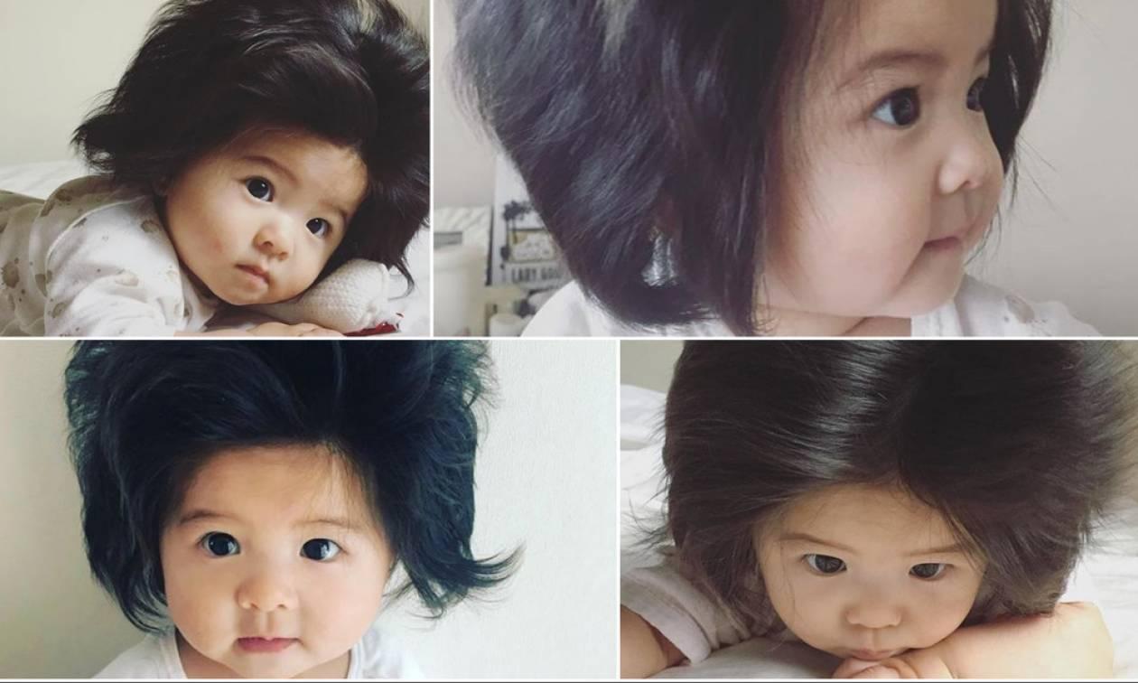 Το μωρό με τα φουντωτά μαλλιά που έχει ξετρελάνει το διαδίκτυο!