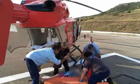 Χαλκιδική: Αεροδιακομιδή νεαρού ασθενή στη Θεσσαλονίκη