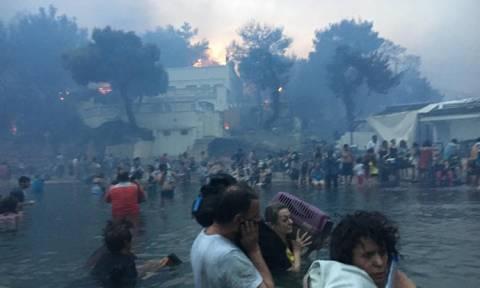 Βίντεο – σοκ: Περνά μέσα από τις φλόγες και σπαράζει - «Θεέ μου, τα παιδιά μου, η γυναίκα μου»
