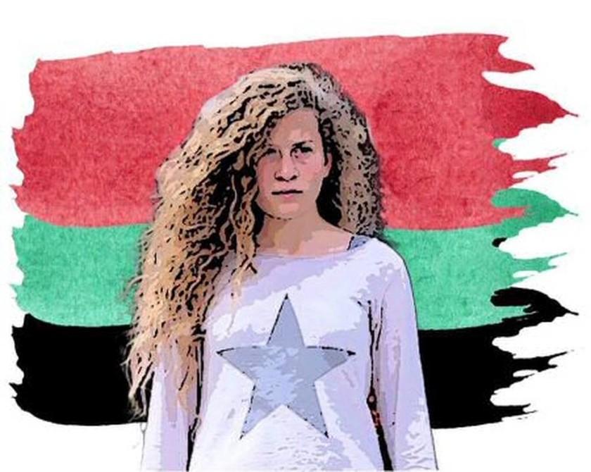 Η 17χρονη Παλαιστίνια αγωνίστρια Άχεντ Ταμίμι στο φεστιβάλ