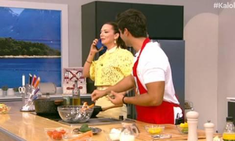Η Ράλλη σήκωσε το κινητό του σεφ της: «Άει στο καλό! Δεν βλέπετε κυρία μου ότι έχουμε εκπομπή;»