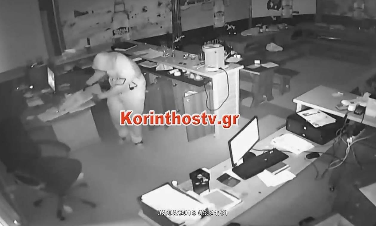 Βίντεο ντοκουμέντο: Καρέ - καρέ η ληστεία σε εργοστάσιο ζυθοποιίας στην Κόρινθο