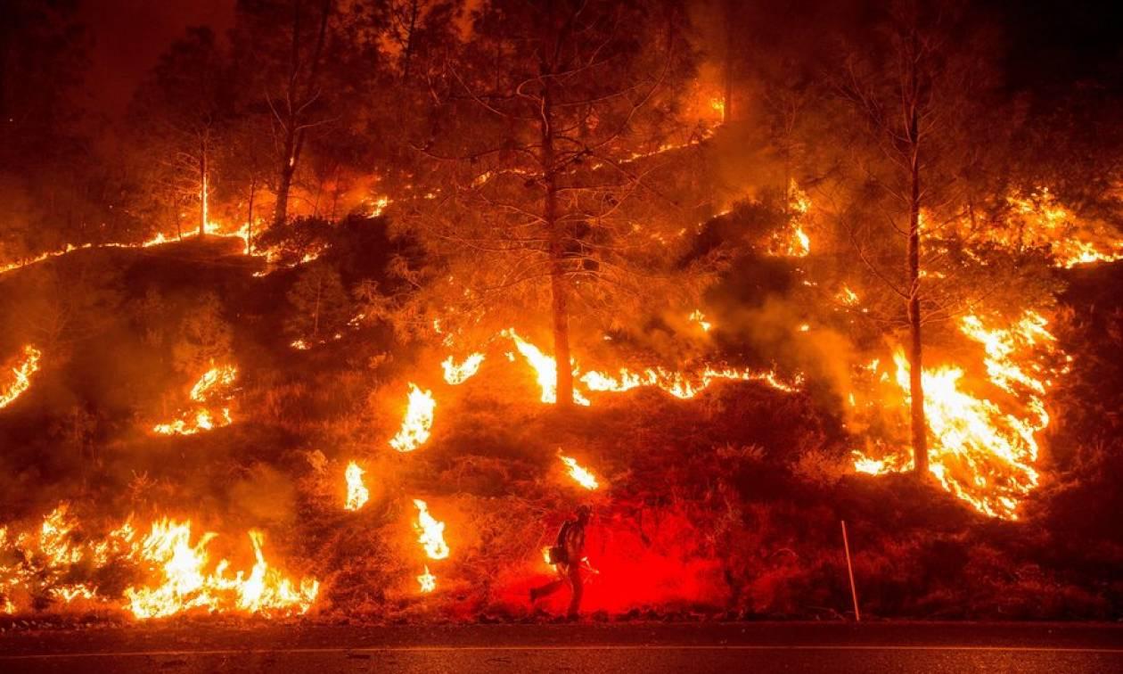 Η τεράστια πυρκαγιά που μαίνεται στην Καλιφόρνια είναι η μεγαλύτερη στην ιστορία της Πολιτείας (vid)