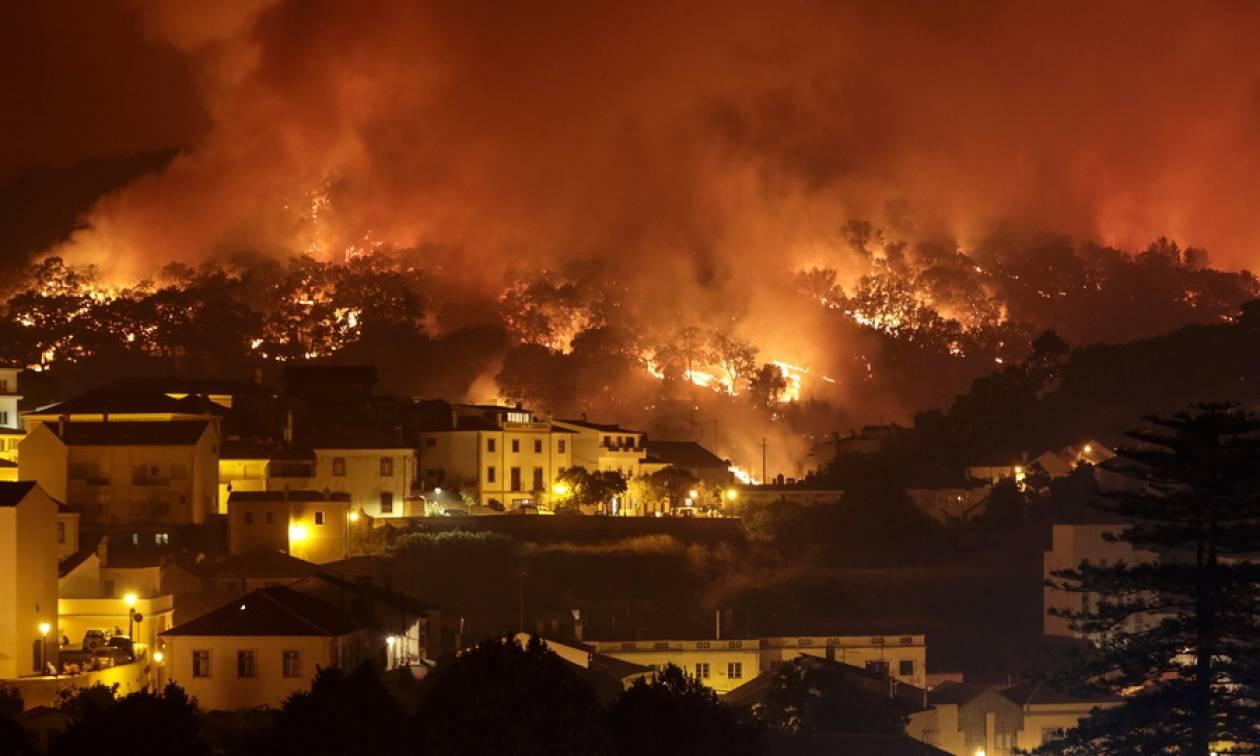 Συναγερμός σε Πορτογαλία και Ισπανία: Τεράστια πυρκαγιά απειλεί τουριστικό θέρετρο - Εννέα νεκροί