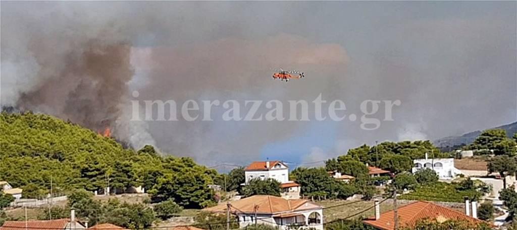 Μεγάλες φωτιές στη Ζάκυνθο: Δύο πύρινα μέτωπα με διαφορά λίγων λεπτών (pics)
