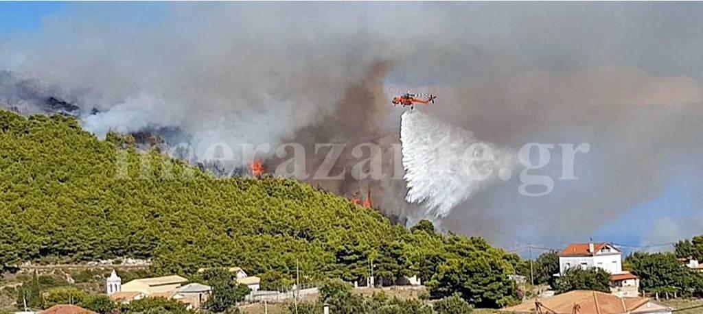 Φωτιές: Καίγεται η Ζάκυνθος - Πυρκαγιές και σε Άνδρο και Αχαΐα (pics)