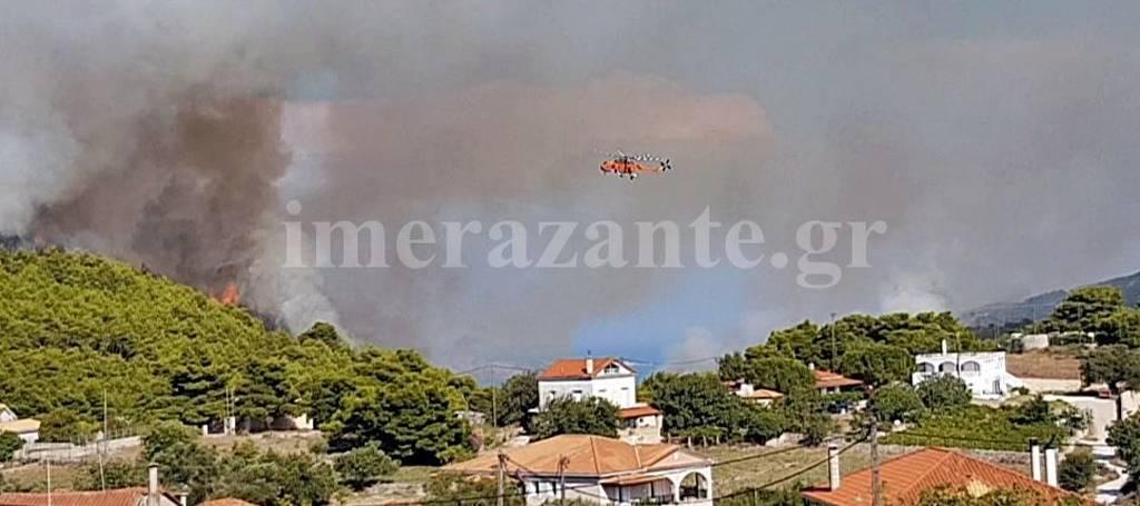 Ζάκυνθος: Σε ύφεση τα πύρινα μέτωπα - Η εικόνα σε Αχαΐα και Άνδρο